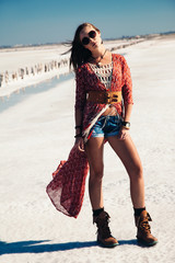 Bohemian chic styled model