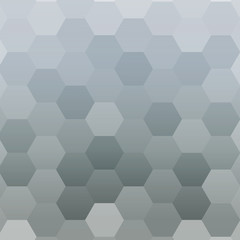 monochrome gradient background with a hexagonal pattern. vector illustration