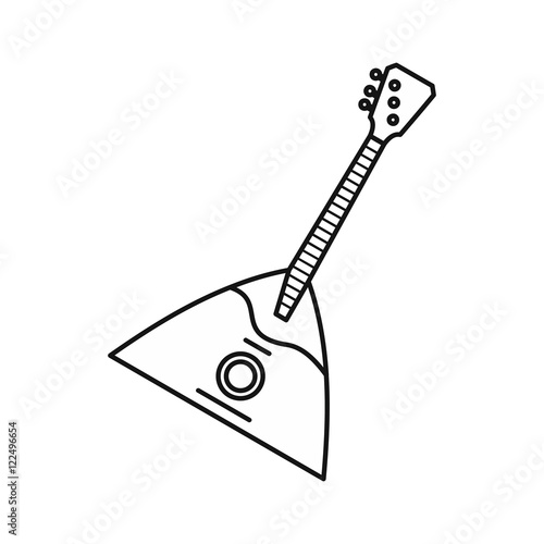 Guitar Triangle Icon In Outline Style Isolated On White Background