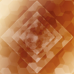 brown color hexagonal, rhombus pattern. vector illustration.