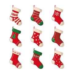Set of cute Christmas socks.