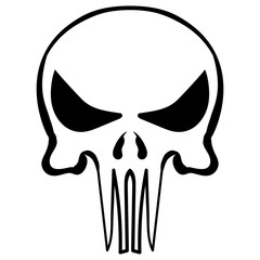 cartoon skull ink sketch vector