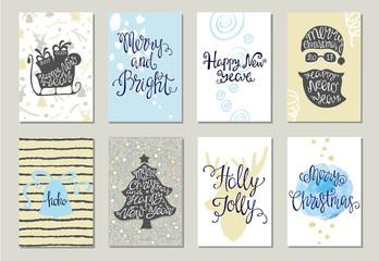 Set of Christmas greeting cards.