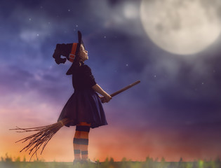 little witch outdoors
