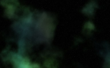 starry sky with colorful nebula