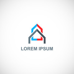 home roof construction logo