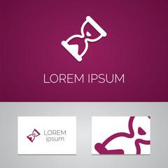 hourglass logo template icon