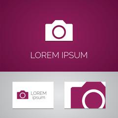 photo camera logo template icon