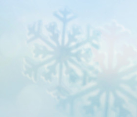 blurred snow flake background, winter holiday