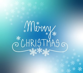 Snow flakes Christmas blue background