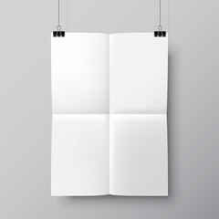 Blank Folded Poster Template