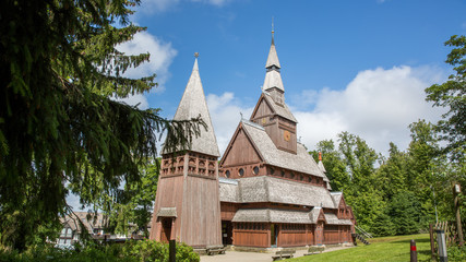Stabkirche in Hahnenklee am Liebesbankweg im Harz