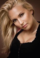 Porträt einer blonden Schönheit