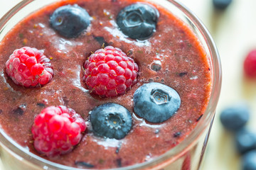 Berry Smoothie, Close-up, Top View