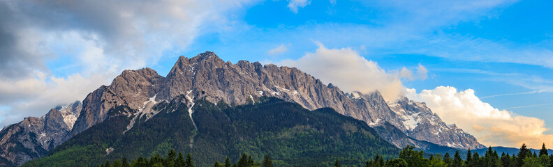 Panorama of Zugspitze top of Germany Wall mural