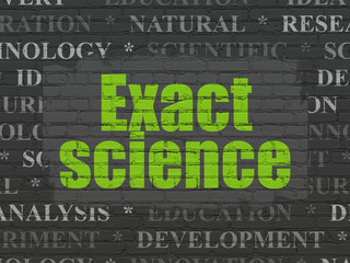 Science concept: Exact Science on wall background