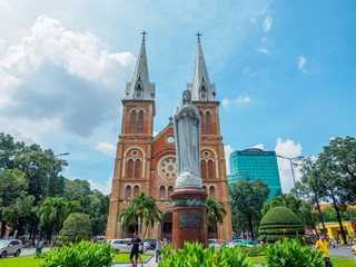 Notre Dame cathedral in Ho Chi Minh City, Vietna