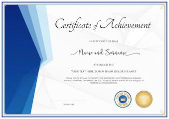 Modern certificate template for achievement, appreciation, participation