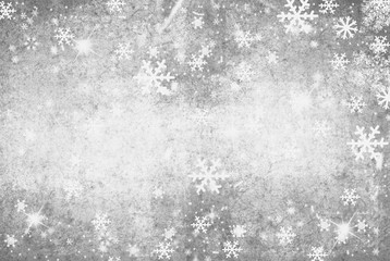 Illustration of a Winter Background with Snowflakes
