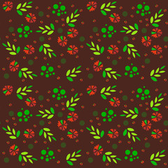 Abstract Elegance Seamless pattern with floral background. Vector illustration