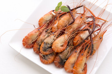 The cooked prawn