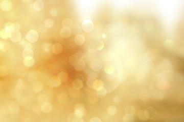Gold christmas lights. Christmas soft luxury Bokeh background