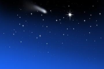 Sternenhimmel mit Komet