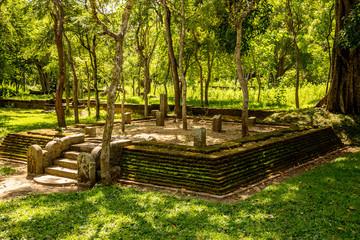 Ruins of a buddhist temple, Anuradhapura sacred city, Sri Lanka