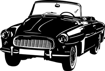 Black and white car icon