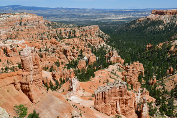 Bryce Canyon, USA - july 9 2016 : National Park