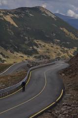 Cycling along Transalpina in Romania