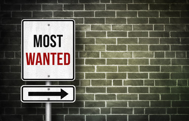 Most Wanted - road sign concept