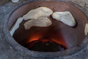 Tradition georgean bread baking