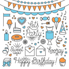 Let's Party Illustrations and Type