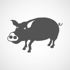 pig icon black