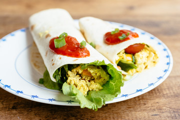 Scrambled Tofu Wraps