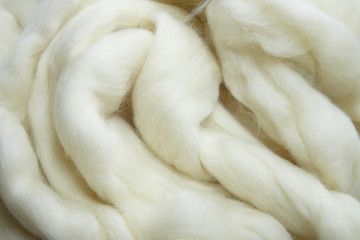 A full page of white needle felting wool background texture