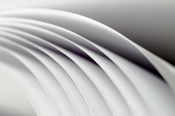 curved sheets of white paper Wall mural
