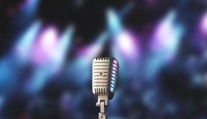 Microfono da cantante vintage o soul render 3d