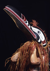 Kwakwaka'wakw, aka Kwakiutl, spirit bird mask by Randy Bell, British Columbia, Canada.