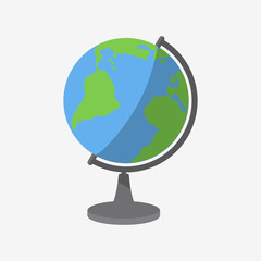 Globe Icon Flat