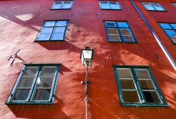 Sweden. Stockholm. Windows of Old Town
