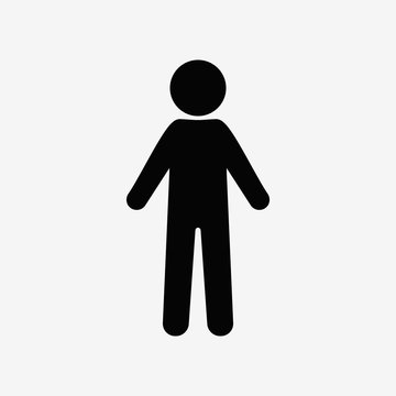 Man standing silhouette, people