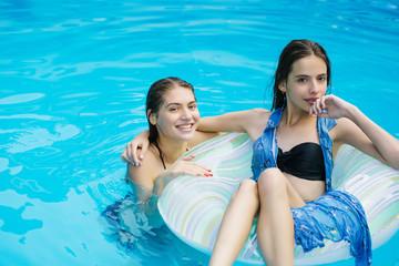 sexy women in swimming pool