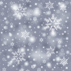 snowflake seamless texture, decorative winter background