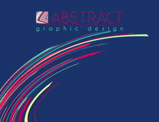 Abstract template variegated strips. Vector design of poster