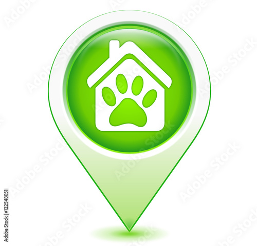 Patte de chien g olocalisation bleu fichier vectoriel - Image patte de chien gratuite ...
