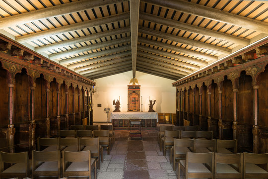 Chapel at the Mission San Diego de Alcala in San Diego, California