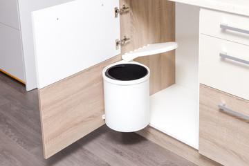 Build-in garbage bin for kitchen cupboard