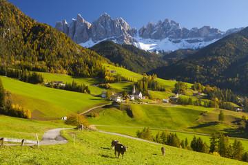 St. Magdalena, Val di Funes, Trentino Alto Adige, Dolomites, South Tyrol, Italy
